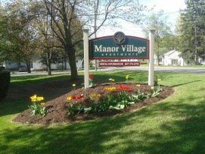 Manor Village Sign